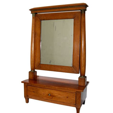 Antique Vanity Table With Mirror And Bench Antique Biedermeier Dressing Table Mirror 19th Century Omero Home