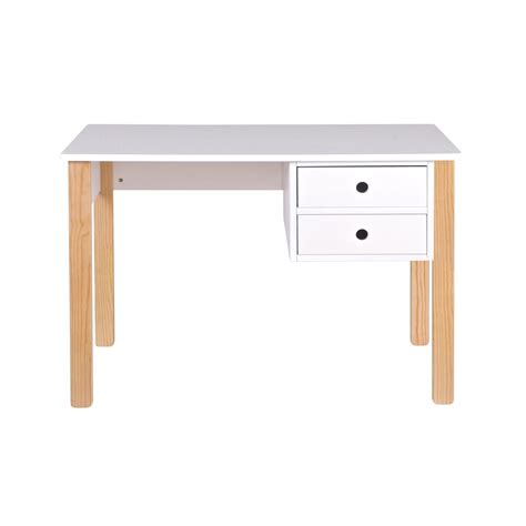 white kid desk desk in white pine with storage drawers desks
