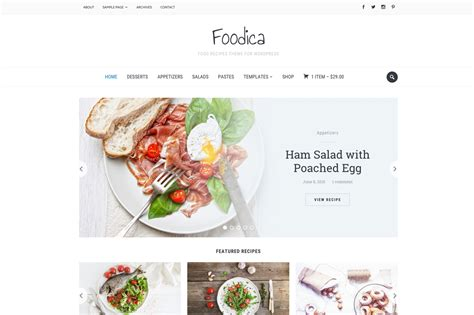 cooking blogs foodica food recipes wp theme themes on