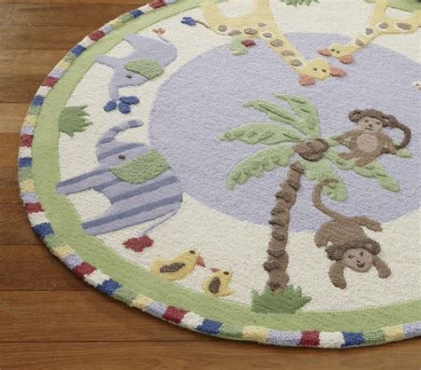 jungle friends rug new pottery barn jungle friends area rug 5x5 rugs carpets