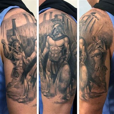 greek god sleeve tattoos 60 tattoos for mythology and ancient gods