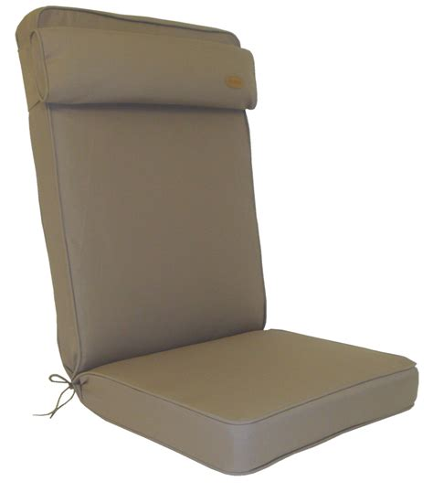 Recliner Pad by Bespoke Collection Garden Recliner Cushion Taupe