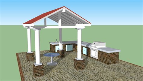 outdoor kitchen blueprints outdoor kitchen plans free howtospecialist how to