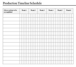 production calendar template sle production timeline 10 exles format
