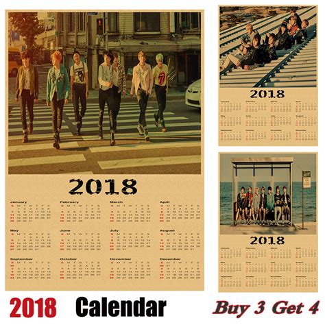 Korea Calendario 2018 Aliexpress Buy Sale Korean Band Bts 2018