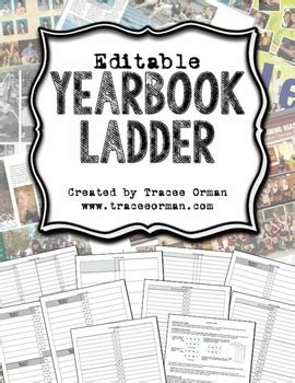 Yearbook Ladder Editable Template 16 Page Signatures By Tracee Orman Free Yearbook Template