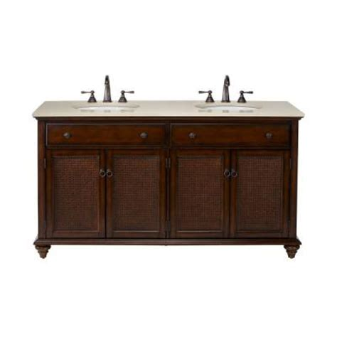 Country Bathroom Vanities Home Depot Home Decorators Collection Ansley 60 In W Bath