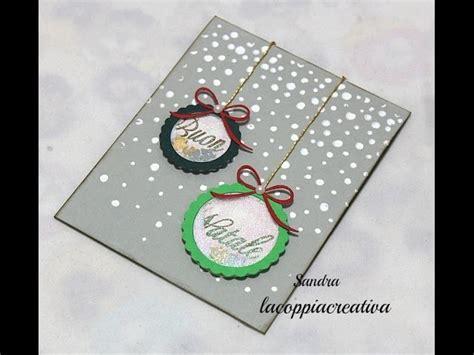 tutorial scrapbooking natale christmas shaker card tutorial biglietto auguri natale fai