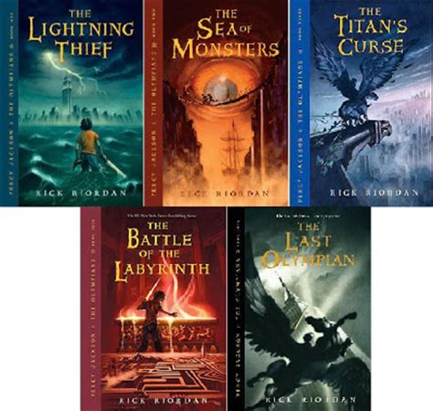 pictures of percy jackson books book percy jackson the olympians series by rick