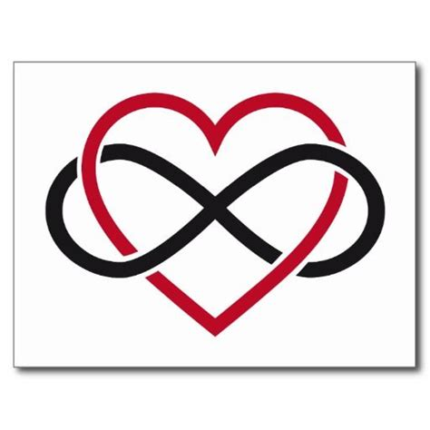 tattoo heart infinity symbol infinity heart never ending love post card tatuajes