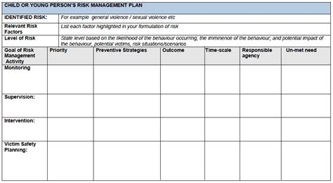 Search Risk Management Templates Of Risk Management Plan Search