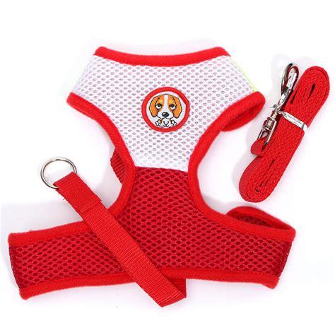dog comfort vest fashion pet dog puppy soft comfort mesh vest strap harness