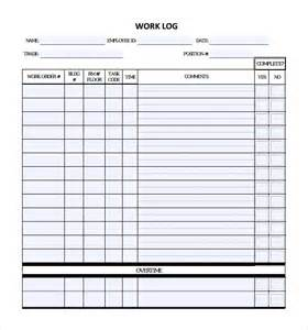 Daily Work Log Template sle daily log template 15 free documents in pdf word