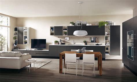 cucine a vista sul soggiorno la parete multifunzione per cucina e living casafacile