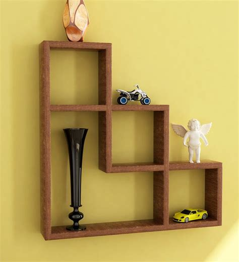 wall shelves pepperfry l shaped wall shelf by home sparkle online wall shelves