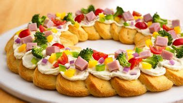 taste of home vegetable christmas tree crescent roll tree shaped crescent veggie appetizers recipe from pillsbury
