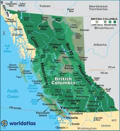 Bc Canada Map by British Columbia Map British Columbia Canada Pinterest