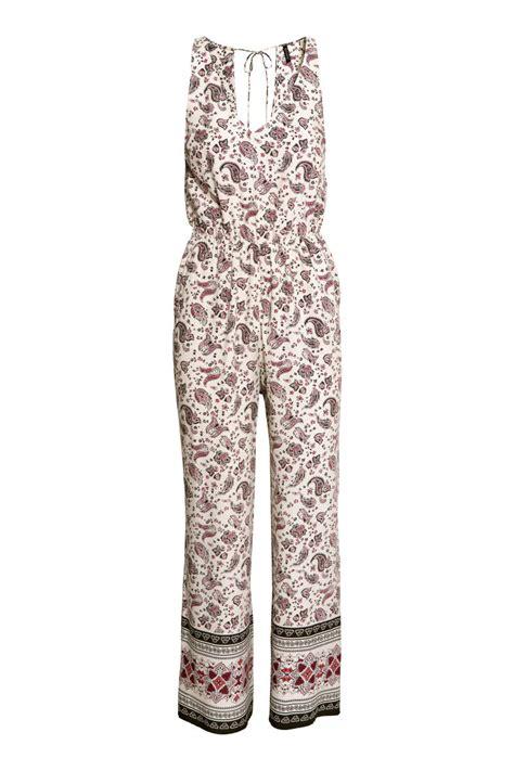 Jumpsuit Pendek Tali Bh 27 sleeveless jumpsuit white patterned sale h m us