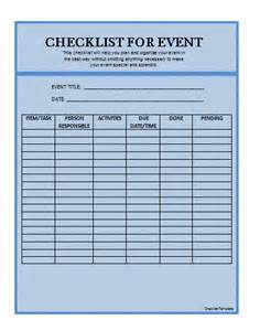 template of checklist checklist template formsword word templates sle forms
