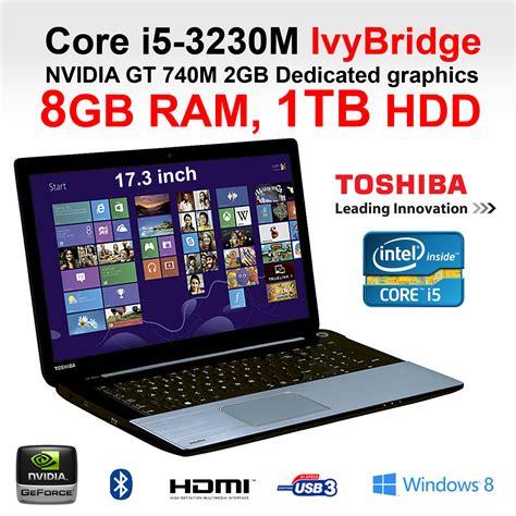 toshiba s70 10c 17 3 inch i5 gaming laptop intel 3230m 8gb 1tb hdd hdmi w8 ebay