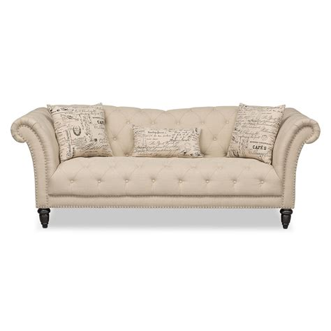 furniture couches sofas marisol sofa beige value city furniture