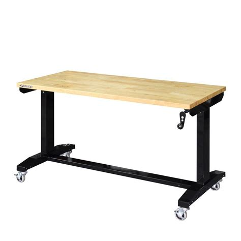 adjustable work benches husky 52 in adjustable height work table holt52xdb12