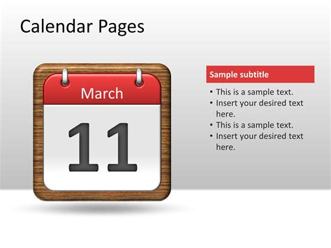 Calendar Pages Powerpoint Template Powerpoint Presentation Ppt Calendar Powerpoint Template