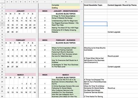 how we plan our editorial calendar tips on how to plan