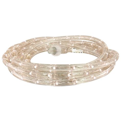 commercial electric 18 ft white led rope light kit led dl