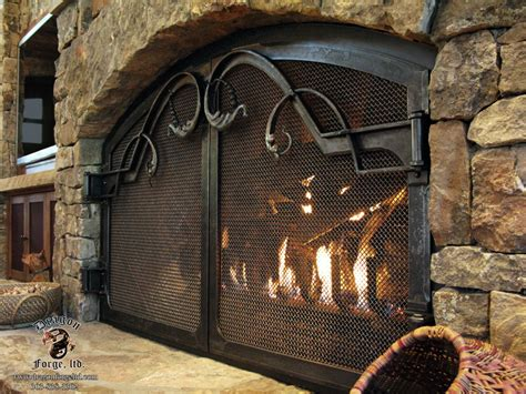 Iron Fireplace Doors by Forged Iron Fireplace Doors Catherine S Pin