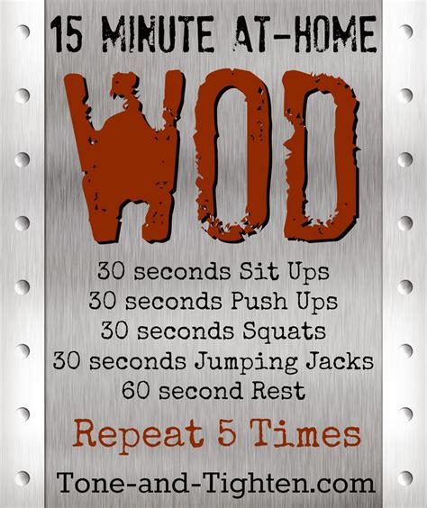 at home wod to strengthen to toe tone and tighten