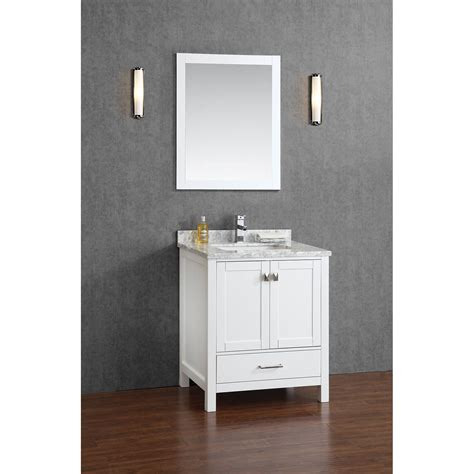White Wood Bathroom Vanity by Buy Vincent 30 Inch Solid Wood Bathroom Vanity In