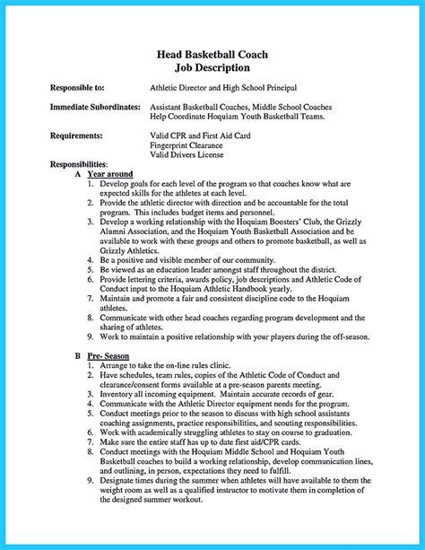 Basketball Coach Resume Example Captivating Thing For Perfect And Acceptable Basketball