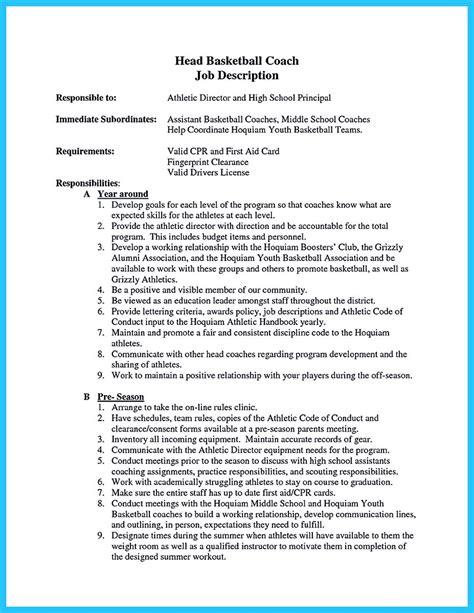 Coaching Resume Example Athletic Coaches Resume