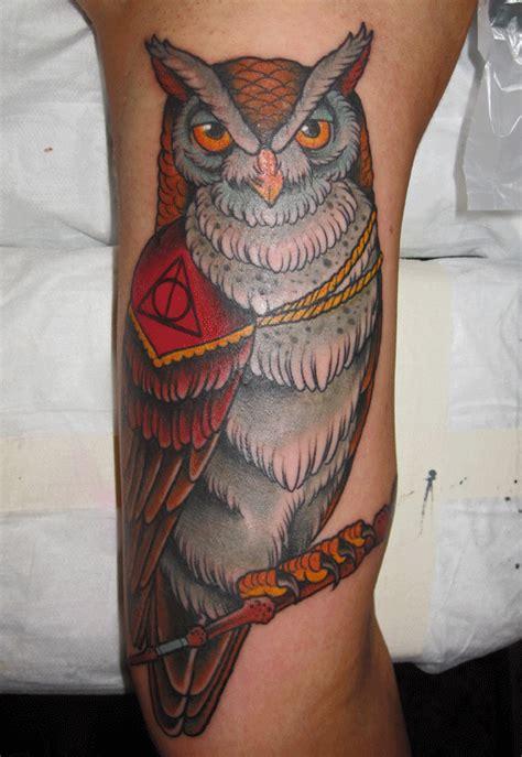 owl tattoo harry potter mark lonsdale tattoo bondi sydney harry potter deathly