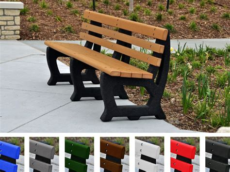 park bench made from recycled plastic recycled plastic brooklyn bench aaa state of play