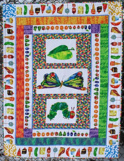 quilt pattern very hungry caterpillar i absolutely love this the very hungry caterpillar quilt