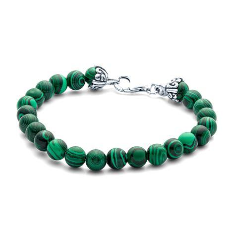 elements gemstone bead bracelet 8mm malachite landing