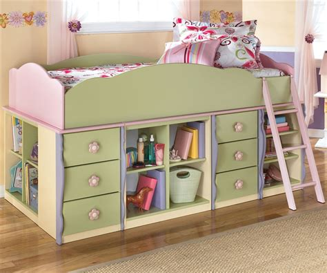 bunk beds with dresser built in ashley furniture doll house loft bed with built in dresser