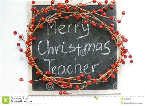 merry christmas teacher stock image image  christmas