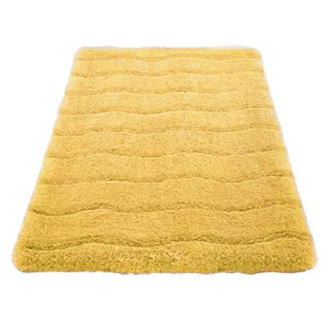kleine wolke medina organic cotton bath mat yellow