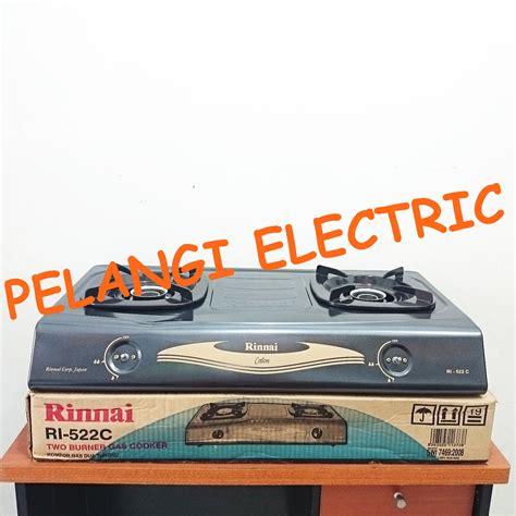 Kompor Gas Rinnai 3 Tungku jual kompor gas 2 tungku rinnai ri 522c pelangi electric