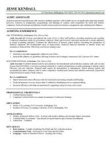 Auditor Resume Exle by Resume Template Learnhowtoloseweight Net