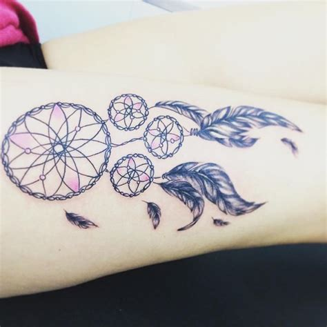 thigh dreamcatcher tattoo designs 38 small dreamcatcher placement ideas