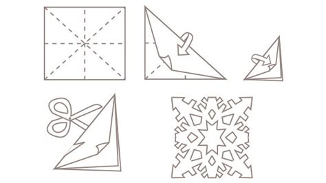 how to cut out a paper snowflake 187 crafts