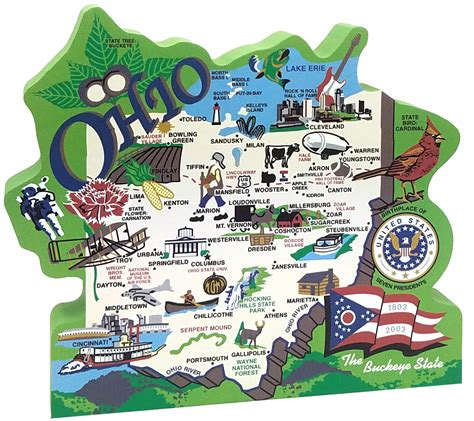 state of ohio state map ohio the cat s meow