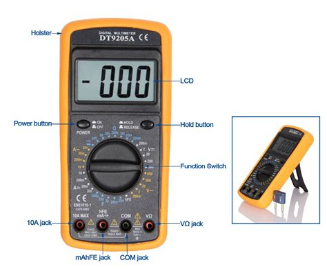 Multimeter Digital Dt9205a digital multimeter dt9205a ce with capacitance test data hold auto power buy digital