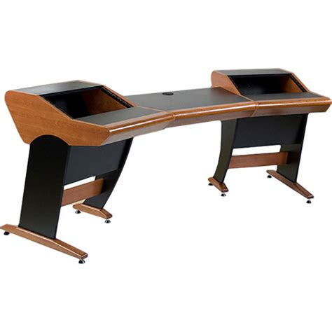production studio desk zaor zaor onda angled studio desk cherry co on ang che b h