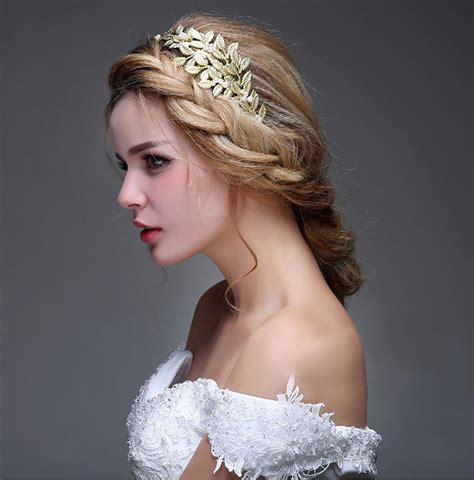 Vintage Leaf Wedding Hair Accessories by Aliexpress Buy Bridal Gold Olive Leaf Tiara Headband