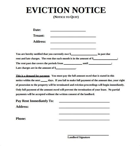 examples of eviction letters the best letter sample